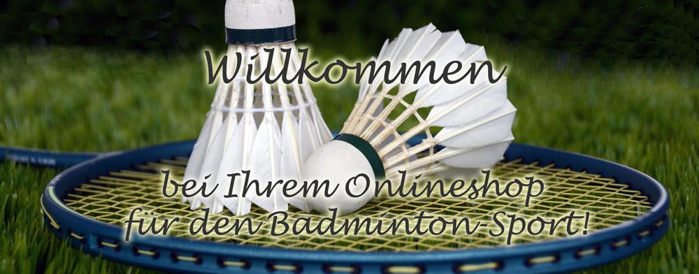 Banner Onlinehandel für den Badmintonsport